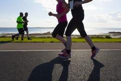 De agenten van de marathon Stock Fotografie