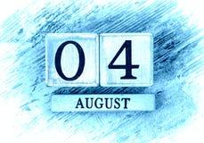 4 de agosto imagens de stock