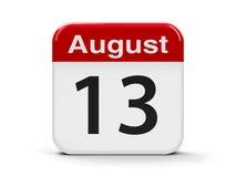 13 de agosto Ilustração Stock