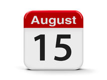 15 de agosto Imagens de Stock Royalty Free