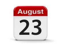 23 de agosto Imagens de Stock