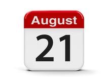 21 de agosto Fotografia de Stock