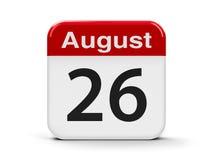26 de agosto Fotografia de Stock Royalty Free