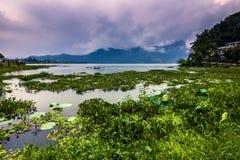 21 de agosto de 2014 - costa do lago Phewa em Pokhara, Nepal Fotografia de Stock Royalty Free