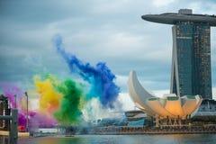 9 de agosto de 2014: Día nacional de Singapur Fotos de archivo