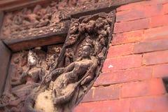 18 de agosto de 2014 - detalhes de templo hindu em Patan, Nepal Fotografia de Stock Royalty Free