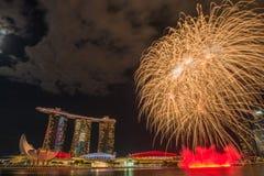 9 de agosto de 2014: Dia nacional de Singapura Imagens de Stock Royalty Free