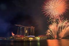 9 de agosto de 2014: Dia nacional de Singapura Foto de Stock Royalty Free