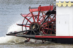 5 de agosto de 2015 Dubuque Iowa: O espírito do barco de pá de Dubuque Imagens de Stock