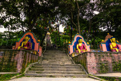 19 de agosto de 2014 - entrada al templo del mono en Katmandu, Ne Fotografía de archivo libre de regalías