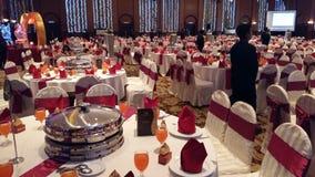 7 de agosto de 2016, Kuala Lumpur, Malásia Uma função do jantar de casamento do banquete Foto de Stock