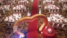 7 de agosto de 2016, Kuala Lumpur, Malásia Uma função do jantar de casamento do banquete Imagem de Stock