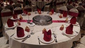 7 de agosto de 2016, Kuala Lumpur, Malásia Uma função do jantar de casamento do banquete Fotos de Stock