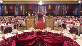 7 de agosto de 2016, Kuala Lumpur, Malásia Uma função do jantar de casamento do banquete Imagem de Stock Royalty Free