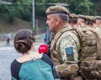 24 de agosto de 2016 Kyiv, Ucrânia Parada militar Fotos de Stock