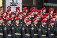 24 de agosto de 2016 Kyiv, Ucrânia Parada militar Imagem de Stock Royalty Free