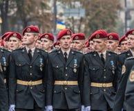 24 de agosto de 2016 Kyiv, Ucrânia Parada militar para o Ukrainia Imagem de Stock