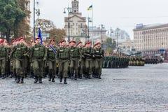 24 de agosto de 2016 Kyiv, Ucrânia Parada militar para o Ukrainia Fotografia de Stock Royalty Free