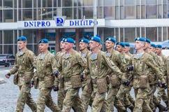 24 de agosto de 2016 Kyiv, Ucrania Desfile militar Fotos de archivo