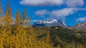26 de agosto de 2016 - opinião da vigia de Alaska da geleira fora de Richardson Highway, rota 4 Imagens de Stock Royalty Free