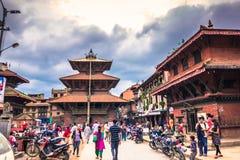19 de agosto de 2014 - quadrado real de Kathmandu, Nepal Imagens de Stock Royalty Free
