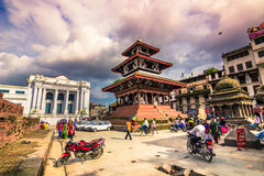 19 de agosto de 2014 - quadrado real de Kathmandu, Nepal Imagens de Stock