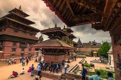 18 de agosto de 2014 - quadrado real de Patan, Nepal Imagem de Stock