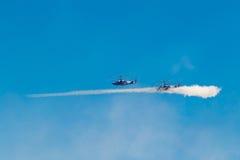 6 de agosto de 2016 Ryazan, Rússia O helicóptero das forças armadas A Fotografia de Stock
