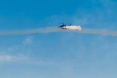 6 de agosto de 2016 Ryazan, Rússia O helicóptero das forças armadas A Imagem de Stock