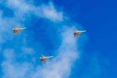 6 de agosto de 2016 Ryazan, Rússia Os aviões do ar militar Fotografia de Stock Royalty Free