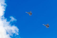 6 de agosto de 2016 Ryazan, Rússia Os aviões do ar militar Imagem de Stock