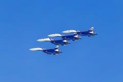 6 de agosto de 2016 Ryazan, Rússia Os aviões do ar militar Fotografia de Stock