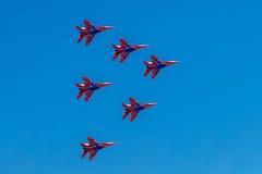 6 de agosto de 2016 Ryazan, Rússia Os aviões do ar militar Foto de Stock Royalty Free