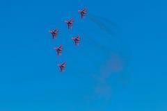 6 de agosto de 2016 Ryazan, Rússia Os aviões do ar militar Fotos de Stock Royalty Free