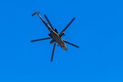 6 de agosto de 2016 Ryazan, Rússia Os helicópteros das forças armadas Imagem de Stock Royalty Free