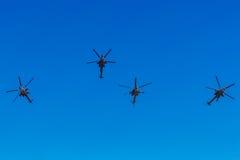 6 de agosto de 2016 Ryazan, Rússia Os helicópteros das forças armadas Fotos de Stock