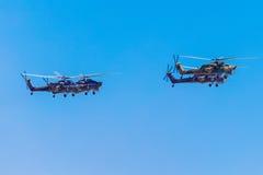 6 de agosto de 2016 Ryazan, Rússia Os helicópteros das forças armadas Fotos de Stock Royalty Free