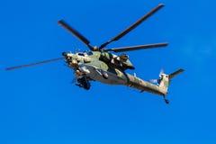 6 de agosto de 2016 Ryazan, Rússia Os helicópteros das forças armadas Fotografia de Stock