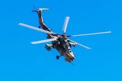 6 de agosto de 2016 Ryazan, Rússia Os helicópteros das forças armadas Fotografia de Stock Royalty Free