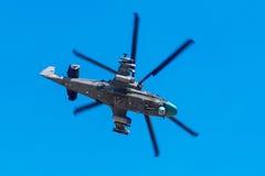6 de agosto de 2016 Ryazan, Rússia Os helicópteros das forças armadas Imagens de Stock