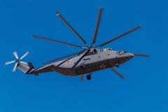 6 de agosto de 2016 Ryazan, Rússia Os helicópteros das forças armadas Imagens de Stock Royalty Free