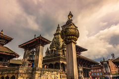 18 de agosto de 2014 - templo de Bhaktapur, Nepal Fotografia de Stock Royalty Free