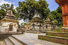 18 de agosto de 2014 - templo de Pashupatinath em Kathmandu, Nepal Foto de Stock Royalty Free