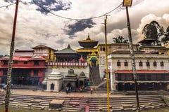 18 de agosto de 2014 - templo de Pashupatinath en Katmandu, Nepal Imagenes de archivo