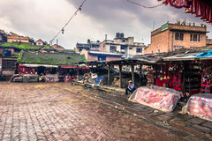 18 de agosto de 2014 - templo en Bhaktapur, Nepal Imágenes de archivo libres de regalías