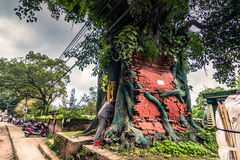 18 de agosto de 2014 - templo en Bhaktapur, Nepal Foto de archivo libre de regalías