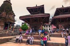 18 de agosto de 2014 - templo hindu em Patan, Nepal Fotos de Stock Royalty Free