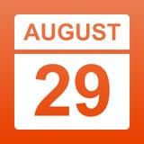 29 de agosto E Dia no calend?rio Vigésimo nono da ilustração august ilustração do vetor