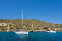 24 de agosto de 2017 - isla de Leros, Grecia - paisaje asombroso en la isla de Leros, Grecia Imagenes de archivo