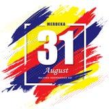 31 de agosto - plantilla del Día de la Independencia de Malasia stock de ilustración